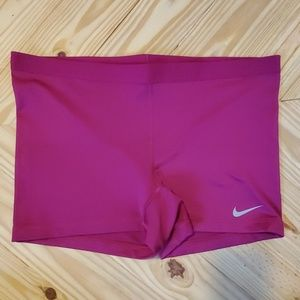 Nike Pro Combat Magenta Compression Shorts L